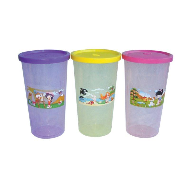 Vasos de plástico con tapa