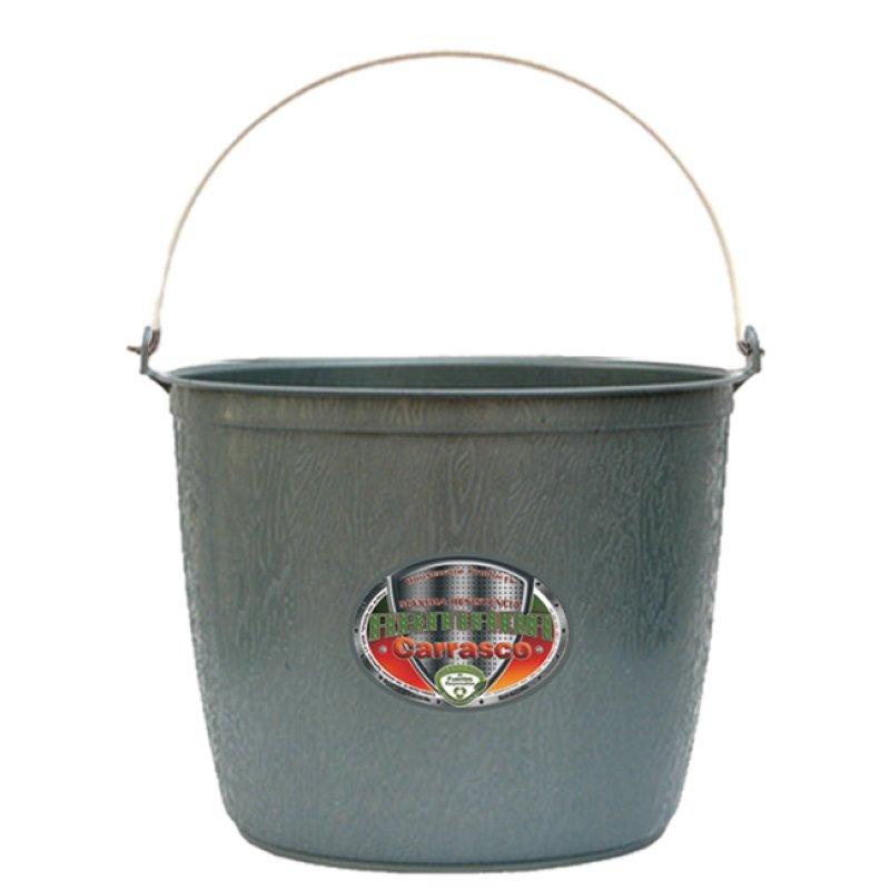 Cubeta de plástico barrilito línea armada de 12 litros