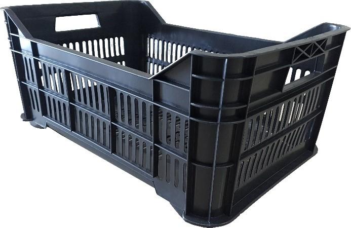 Caja agrícola mediana de plástico