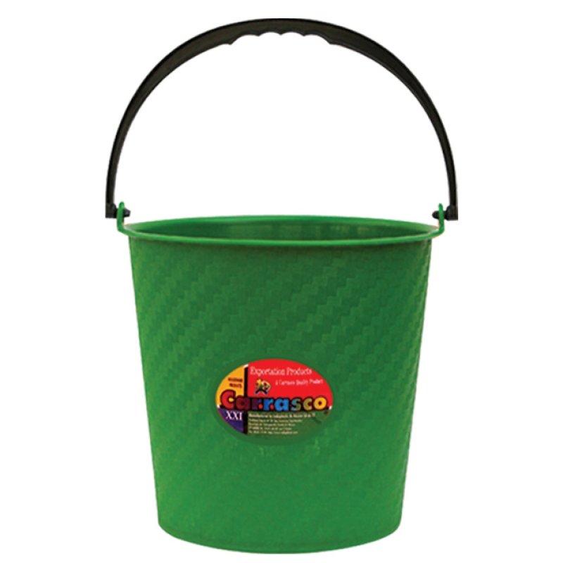 Cubeta de plástico cilíndrica de 13 litros